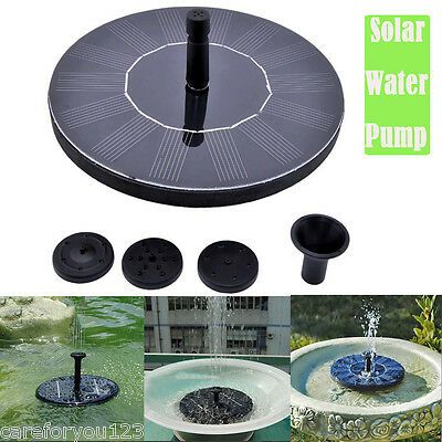 Solar Power Fountain Water Pump Floating Panel Pool Garden Pond Watering Kit