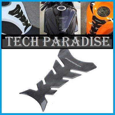 Protection Sticker Réservoir Moto Bike tank pad panel gel imitation Carbone *PG*