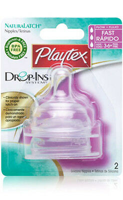 Playtex Baby Bottle Teats/Nipples (Silicone)