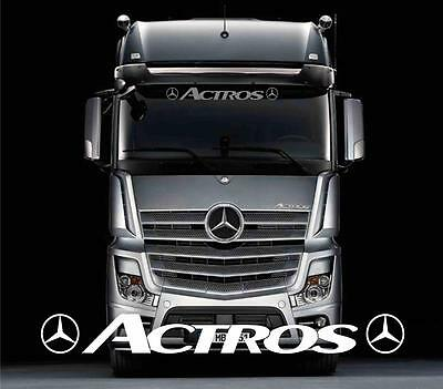 Mercedes Actros style truck screensticker/decal for lorry cab windscreen glass