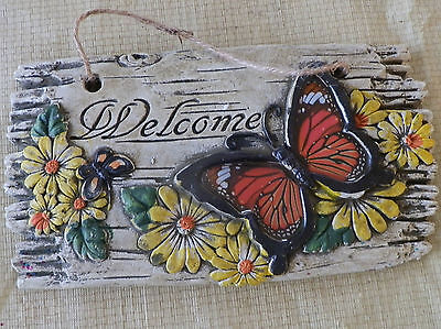 "Butterfly ""Welcome"" Decorative Wall Hanging"