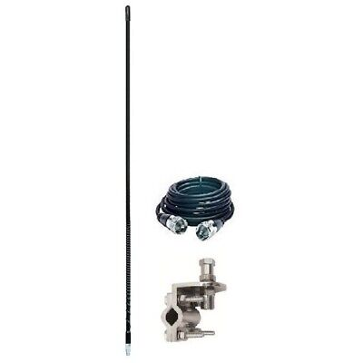 Aries 10822-18 4` Foot Cb Radio Antenna Kit W/ Mirror Mount And 18` Coax (Black)