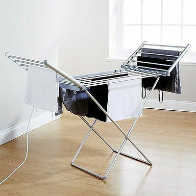 Electric Folding Cloth Clothes Airer Dryer Indoor Horse LAUNDRY RACK-HEA1177