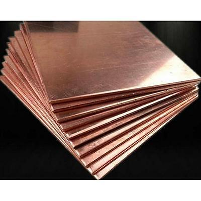 3pc 99.9% Pure Copper Cu Metal Sheet Plate 1mm*100mm*100mm TOY Quality #3HO