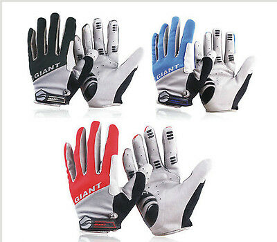 GIANT Cycling Bicycle Bike BMX Cycle Full Finger Antiskid Silicone Gel Gloves UK