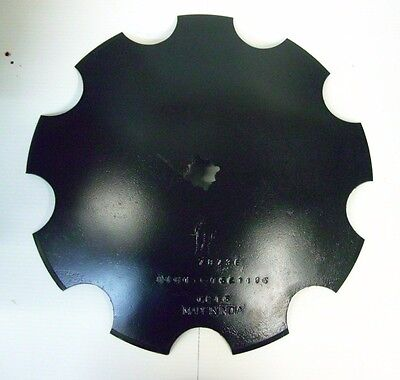 "18'' Notched Disc Harrow Blade Scalloped HEAVY DUTY 1"" or 1 1/8"" SQ Stamped Hole"