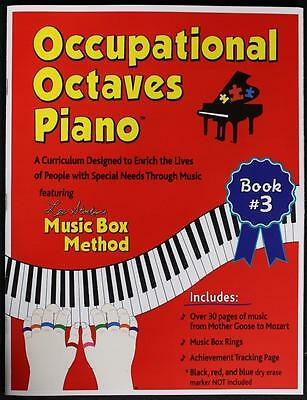 Occupational Octaves Piano Book Special Needs Learning Music & Rings Book 3