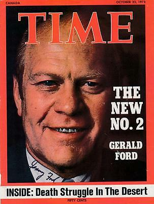 President Gerald Ford- Signed 1973 Time Magazine Cover