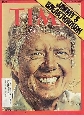 President Jimmy Carter- Signed Time Magazine Cover from 1976