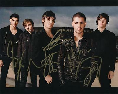 The Wanted- Color Photograph Signed by all 5 Band Members
