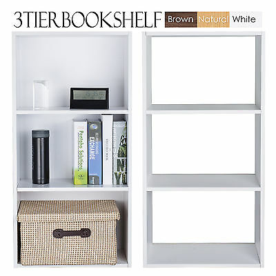 DVD CD Storage Stackable Shelf Rack Stand Cupboard Book Unit White Bluray 80cm