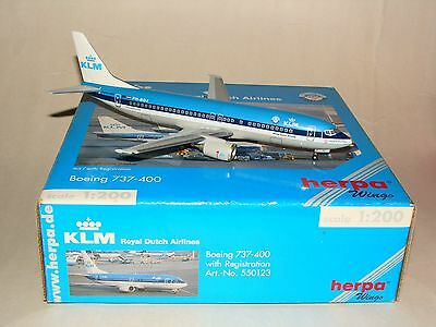550123 1:200 Herpa Wings KLM B737 -400 PH-BDZ free shipping
