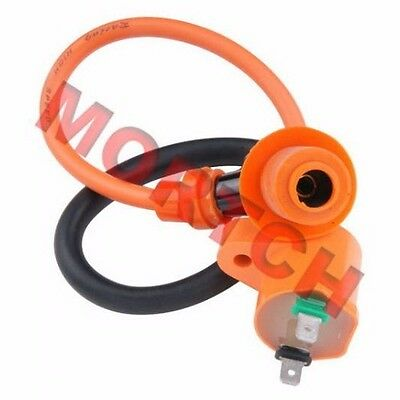 GY6 50cc To 150cc High Performance Racing Ignition Coil + Spark Plug Cap Moped