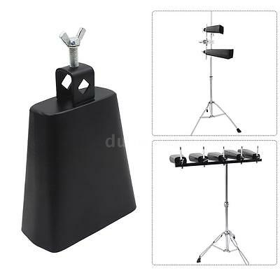"""5 """" Iron Cow-bell Percussion with Clapper for Drum Set Kit Accessory M4C7"""