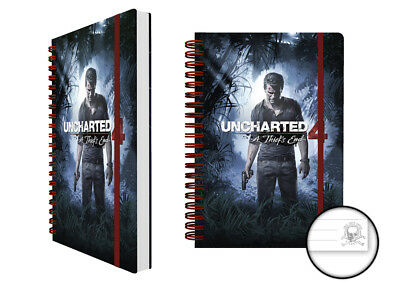 Uncharted 4 Cover Notebook, Block, Ringbuch, Spiralbuch A5