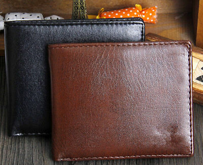 Men Leather Wallet Pocket Coin Card Money Holder Clutch Bifold Slim Purse