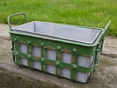 NEW Vintage Industrial Style Planter Garden Patio Distressed Shabby Chic Green