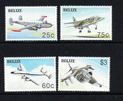 Belize 2003 Powered Flight Sg 1299-1302 Mnh.