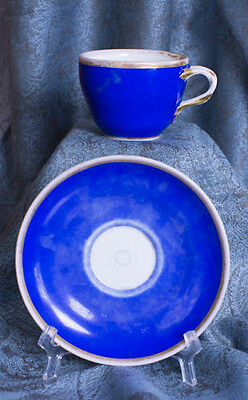 """""""Old Blue """" Mid 1800s KPM Berlin cup and saucer"""
