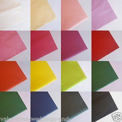 Tissue Paper Solid Colour Wrap Acid Free Flowers 5 10 20 Sheets Free Delivery