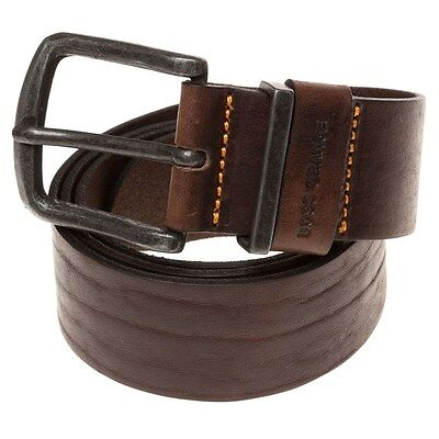 New Mens BOSS Orange Brown Jeppo Leather Belt Belts