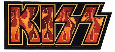 KISS flames logo STICKER Licensed New *Free Shipping Everywhere* destroyer decal