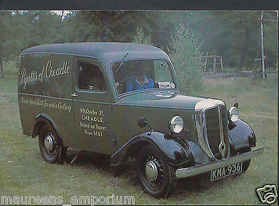 Road Transport Postcard - 1948 Jowett Bradford Van - Pyatts of Cheadle  RR330