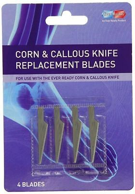 Ever Ready Corn & Callous Knife Replacement Blades - 4 Blades *
