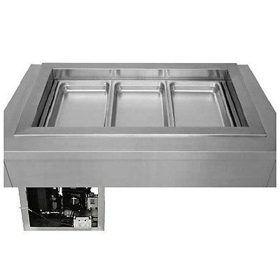 """Wells 5O-RCP200SLST6 46"""" Two Pan Drop In Slim Line Refrigerated Cold Food Well"""