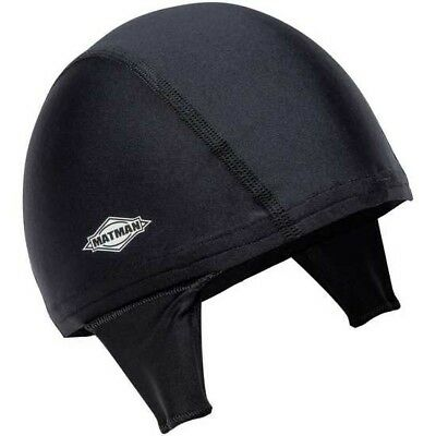 New Matman Wrestling Hair Cap with Eyelets to Hook to Ear Guards, Black Adult