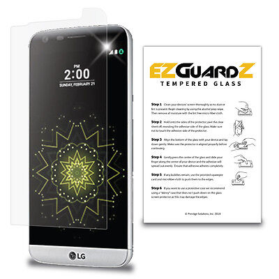 EZguardz Premium Real Tempered Glass Screen Protector Cover Shield For LG G5