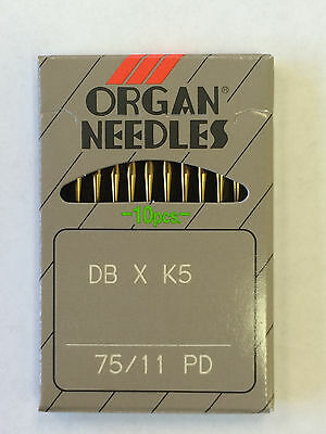 50 Organ Dbxk5Pd Titanium Industrial Embroidery Sewing Machine Needles Size#11