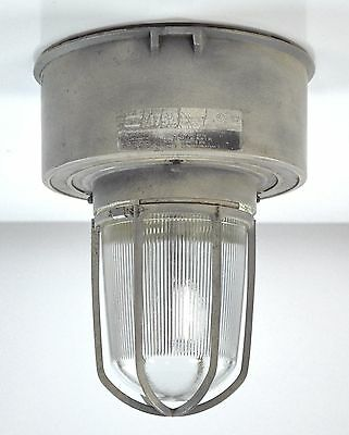 Industrial Steampunk Flush Mount Ceiling Chandelier Light Glass Silver Restored