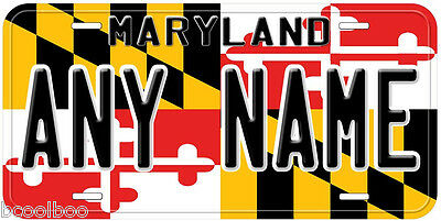 Maryland State Flag Any Name Novelty Car License Plate
