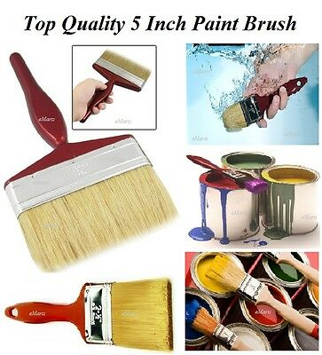 """Professional Wall Brush 5"""" Inch Large Emulsion Paint Brush for any DIY Paint NEW"""