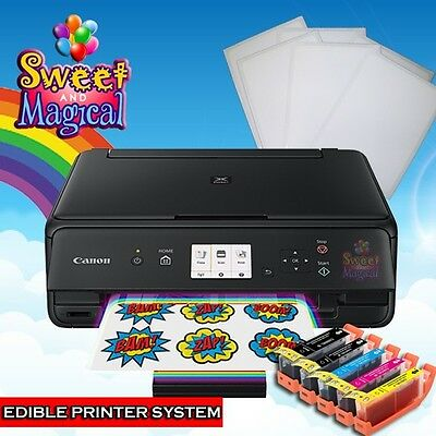 Canon MG6820/21TS5020/T6020 Edible Printer Bundle ,Ink & Large Frosting Sheets