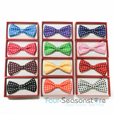 12 Colors Children Kid Baby Toddler Boys Under Age 6 bow tie with polka dot