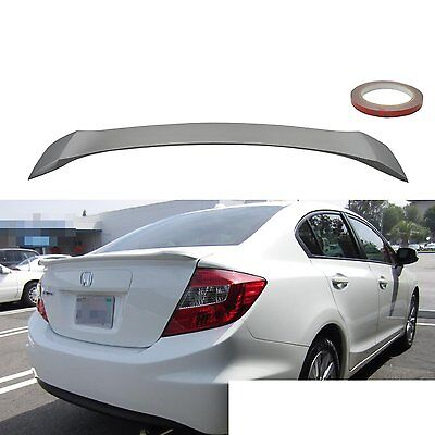 12-14 Honda Civic 9th Gen OE Style Unpainted ABS Rear Trunk Spoiler