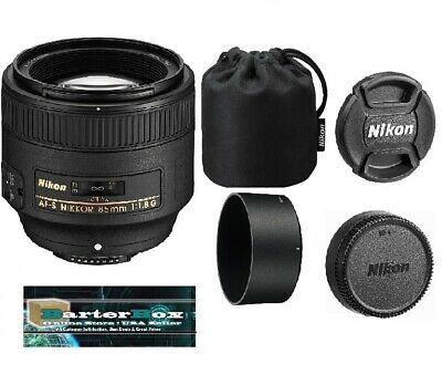 New Year Deal Sale Nikon G Af-s Nikkor 85mm f/1.8G Lens 2201 Hood & Pouch