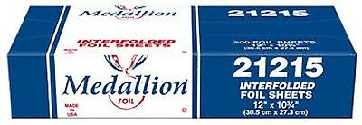 "Medallion Foil 12"" x 10.75"" Interfolded Aluminum Foil Sheets 200/PK"