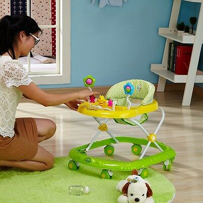 New Baby Carriage Infant Walker Musical Activity Play Tray Learning First Steps