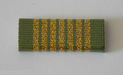 National Emergency Medal Ribbon Bar Plastic Covered. Ribbon Bar Has 2 Pins