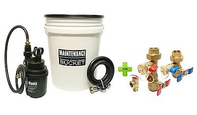 Tankless Water Heater Flushing Kit With Brass Isolation Valve Kit