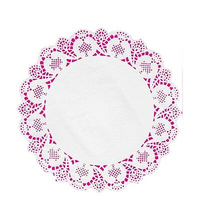 "16"" white paper lace doilies disposable 4 pcs per pack Fanci-Lace"