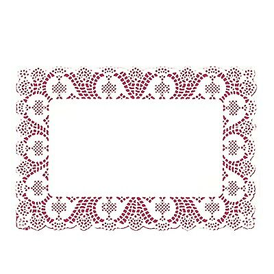 "14.5"" x 9.5"" white paper lace placemats disposable 10 pcs per pack Fanci-Lace"
