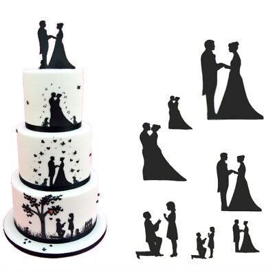 Patchwork Cutters Wedding Silhouette Set Cake Decorating Sugarcraft Cutting Tool