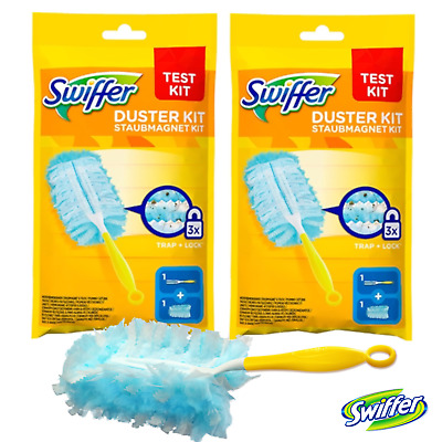 Swiffer Duster Starter Kit Disposable Unscented Cleaning Dusters Magnet Wiping