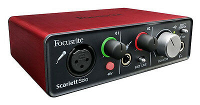 Focusrite Scarlett Solo - Interface Audio - Vendeur Français - 2 ans garantie
