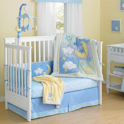 Laugh, Giggle & Smile Wish I May 4 Piece Crib Bumper Set