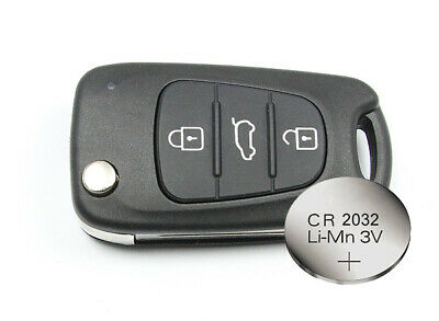 Fits to Replacement Hyundai i10 3 Button Remote key FOB shell case + blank blade